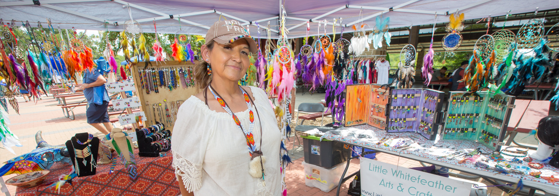 Vendor at the World Heritage Festival